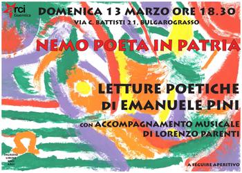 13 marzo/ Nemo poeta in patria