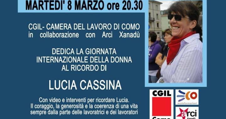 8 marzo/ Dedicato a Lucia Cassina