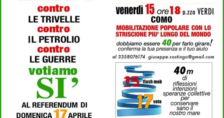 Cinegiornale ecoinformazioni/ 15 aprile per il Sì a Como