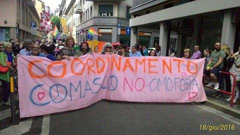 25 giugno/ Coordinamento comasco contro l'omofobia al Pride di Milano