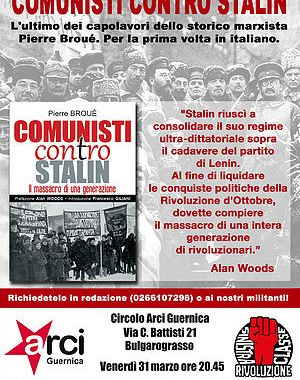 31 marzo/ Comunisti contro Stalin: presentazione del volume all'Arci Guernica