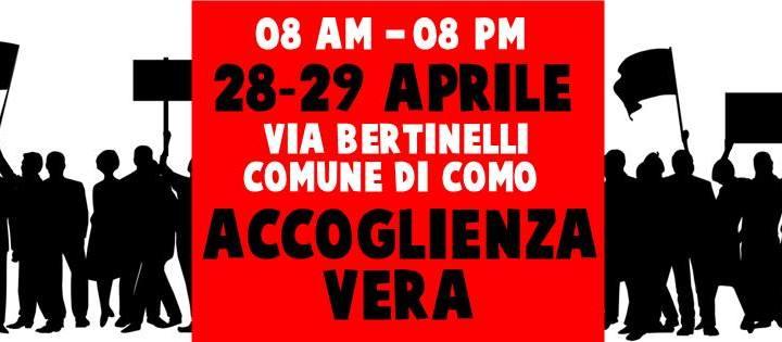 28 e 29 aprile/Ancora nessuna risposta sul Drop in/ La Como solidale per l'Accoglienza vera