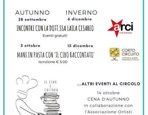 Dal 28 settembre / Stagioni a tavola ad Arci Mirabello / Incontri con Laila Cesareo