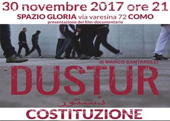 30 novembre/ Anpi sezione di Como e Arci Xanadù/ Dustur allo Spazio Gloria