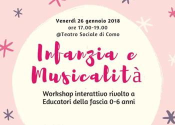26 gennaio/ Infanzia e musicalità al Teatro sociale