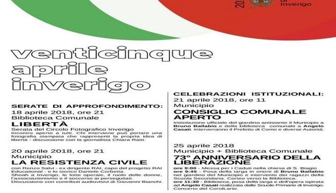 18-20-21-25 aprile / Festa della Liberazione a Inverigo