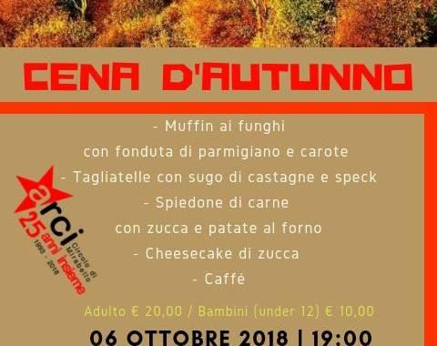 6 ottobre/ Cantù/ Cena d'autunno a Mirabello