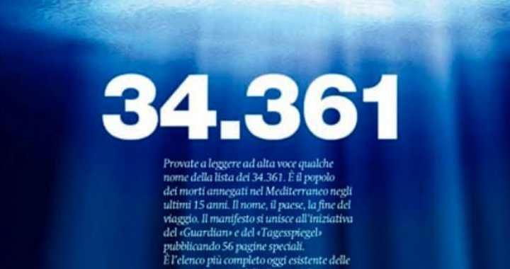 12 gennaio/ Tutti in piazza contro la strage nel Mediterraneo/ 34361 persone non numeri