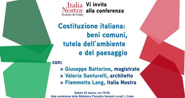 23 marzo/ Italia nostra e Costituzione