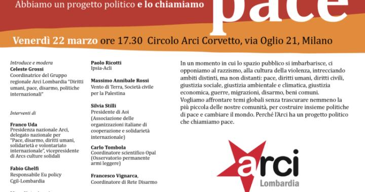 RINVIATO/22 marzo/ Milano/ Pace