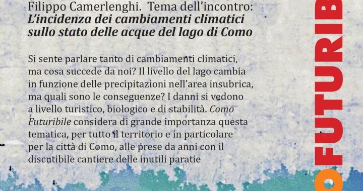 5 dicembre all'Università popolare Auser / Resilario – il cambiamento climatico sul lago di Como