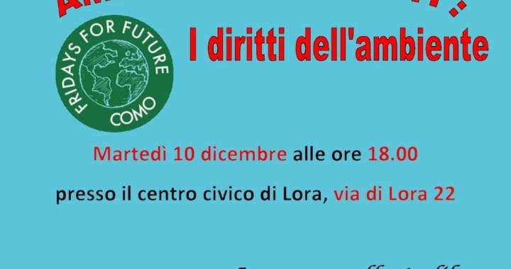 10 dicembre/ Fridays for future/ Ambiente e diritti