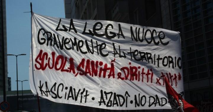 Centri sociali ed anarchia contro i crimini pandemici