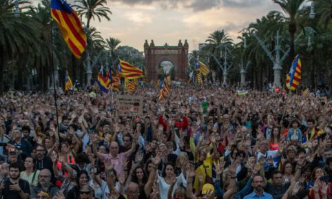 Catalonia Marks The First Anniversary Of The Independence Referendum