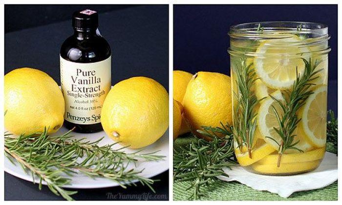 Aromatizante casero receta limon