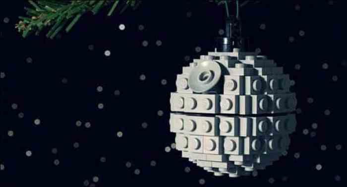 Adornos de navidad con piezas de lego