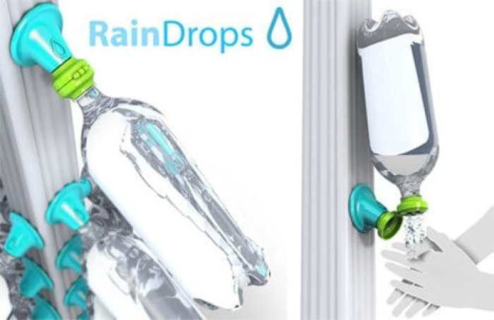 Rain Drops, o como embotellar agua de lluvia