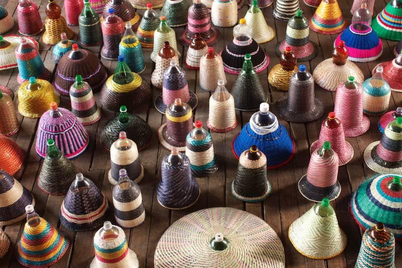 Como hacer lámparas con hilo de botellas PET