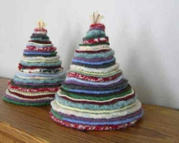 rbol de navidad con sweaters
