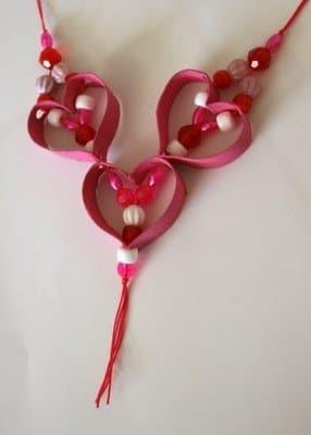 Collares con corazones para San Valentin