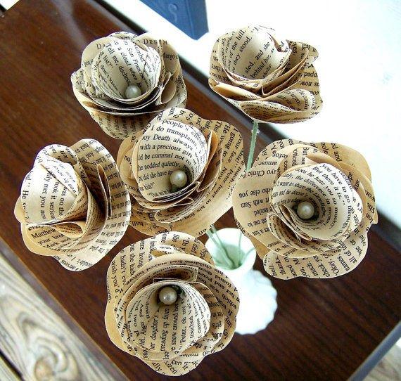 Flores de papel reciclado
