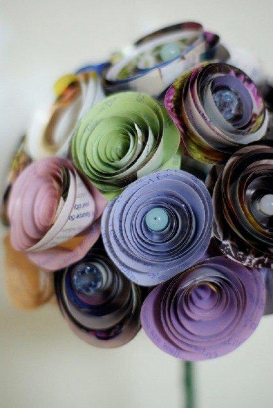 Flores de papel reciclado1