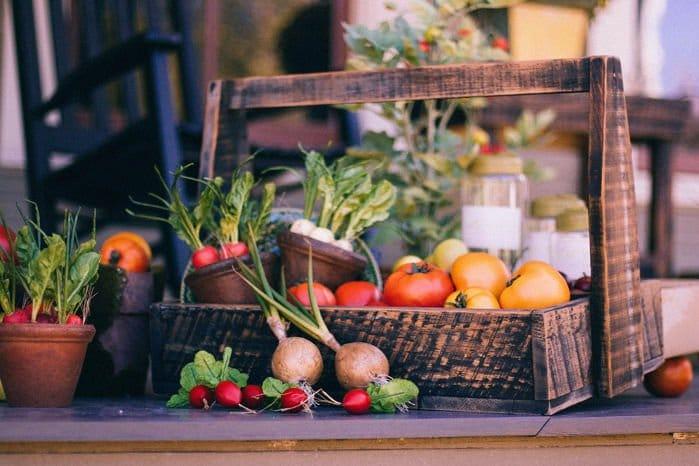 cesta de verduras