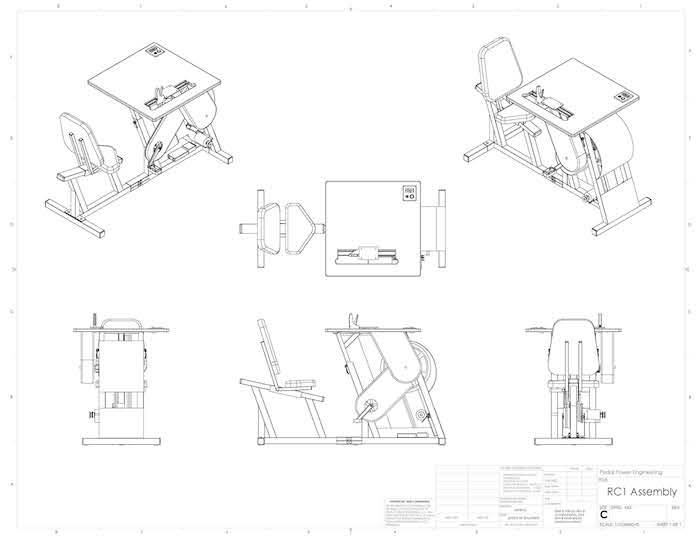 generador a pedales planos