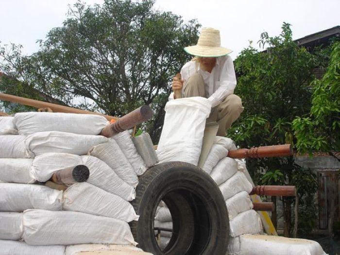 Como construir un domo con sacos de tierra8