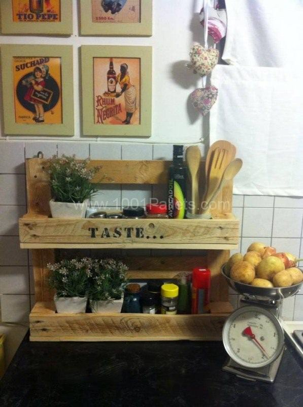 Palet organizador de cocina
