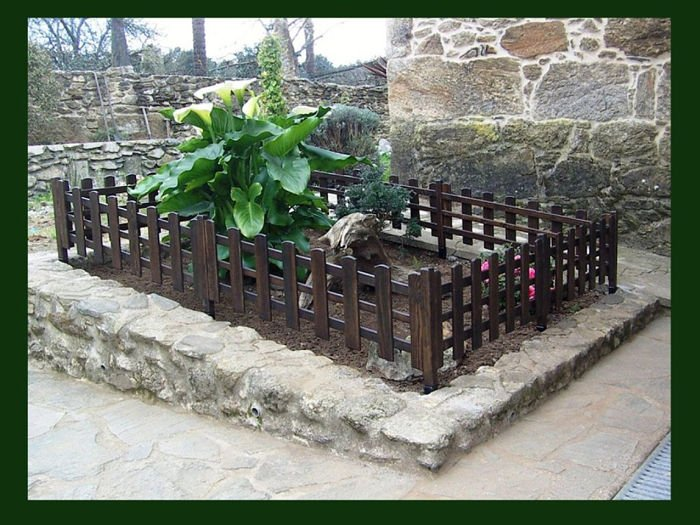 valla para jardin