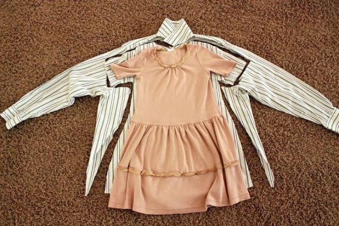 Como convertir camisas de papa en vestidos de niña