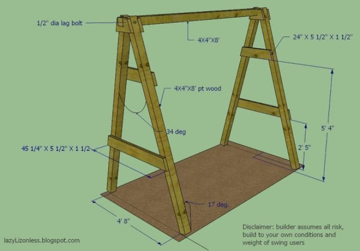 Como hacer un banco columpio casero for Fabricacion de bares de madera