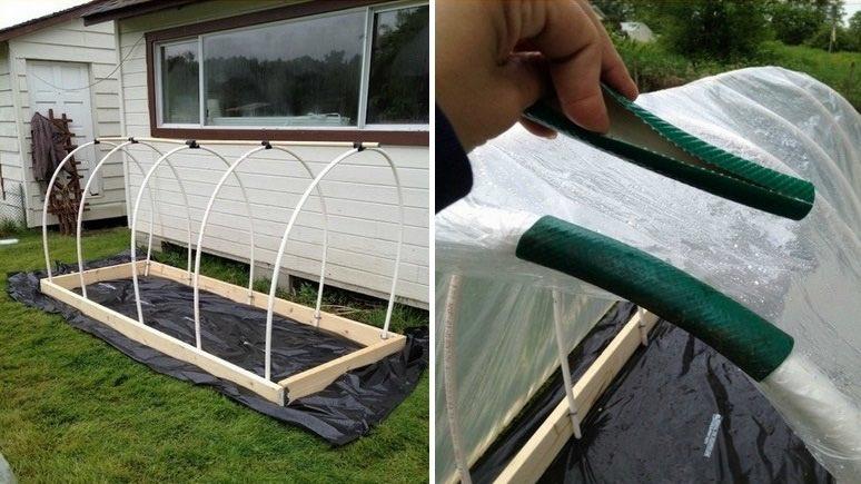 Como hacer un invernadero de cama elevada en nuestro jardín