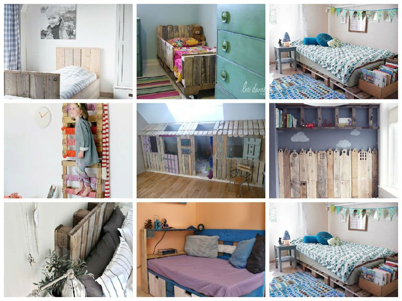 Ideas originales para decorar dormitorios con palets - Decorar habitacion barato ...