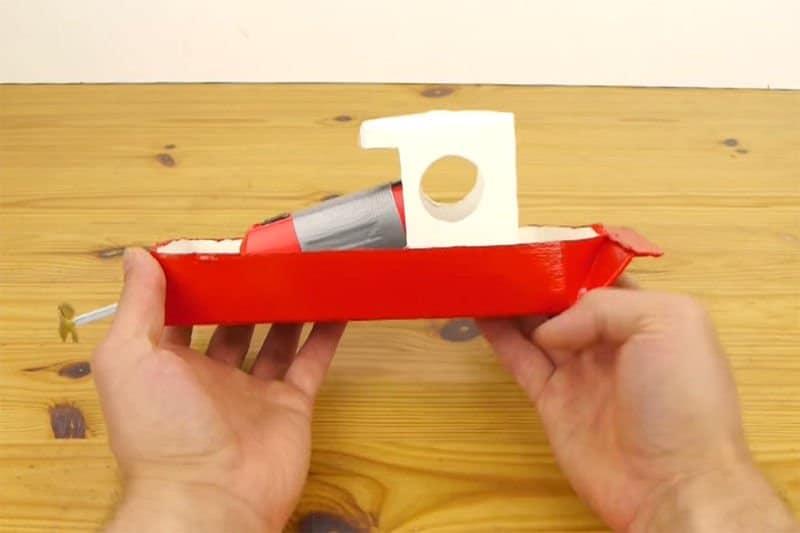 Como hacer un barco propulsado con un tetrabrick