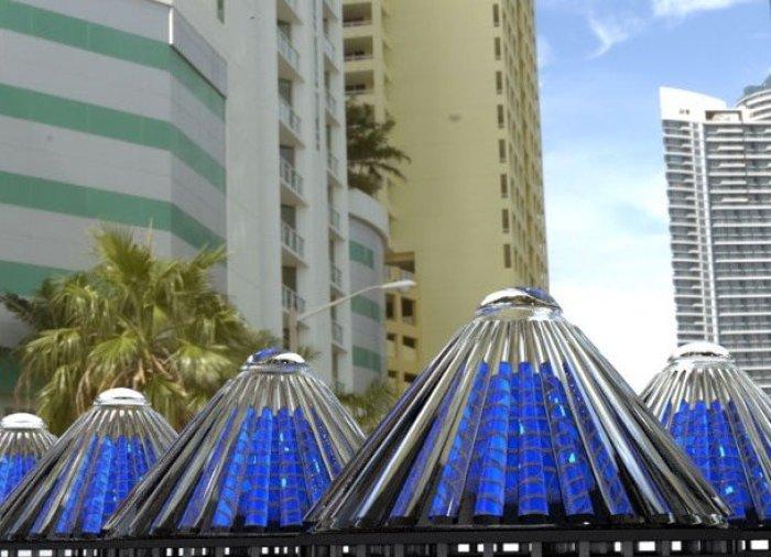 Células solares giratorias de V3Solar