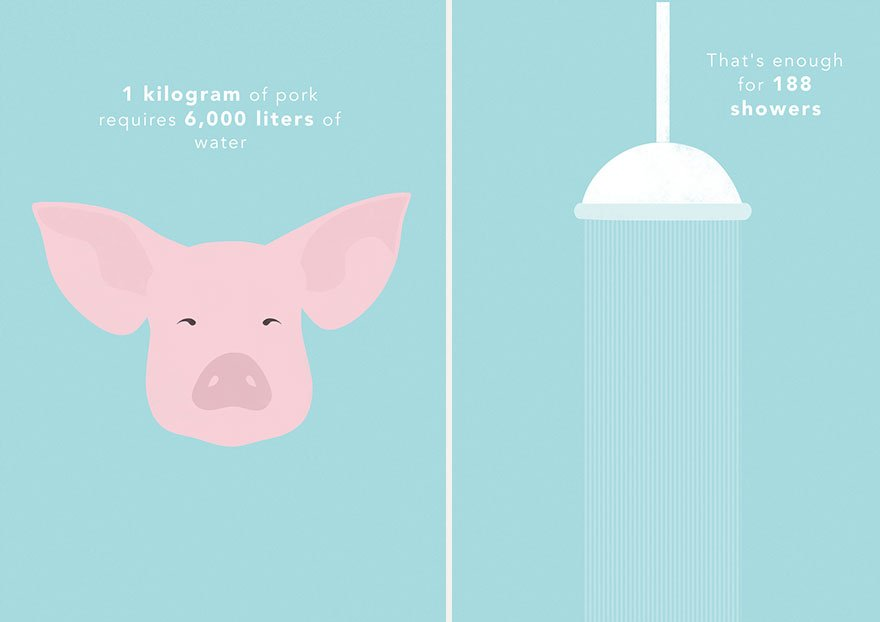 Agua para producir carne de cerdo