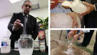 Nueva tecnología Agua en polvo para combatir las sequías