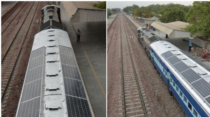 India quiere trenes con techos solares