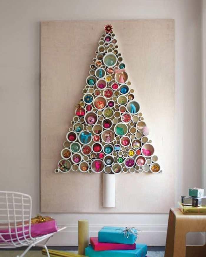 genial rbol de navidad reciclando tuberas de pvc - Arbol De Navidad Casero