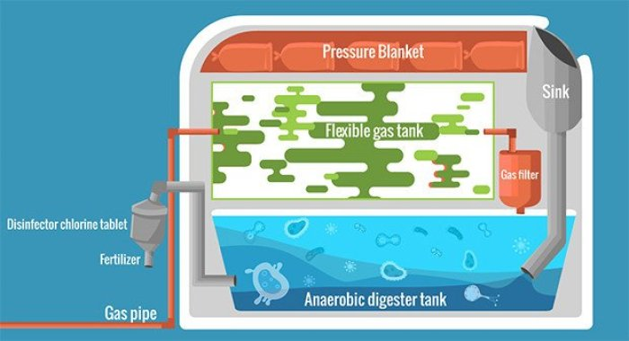 Biodigestor proceso