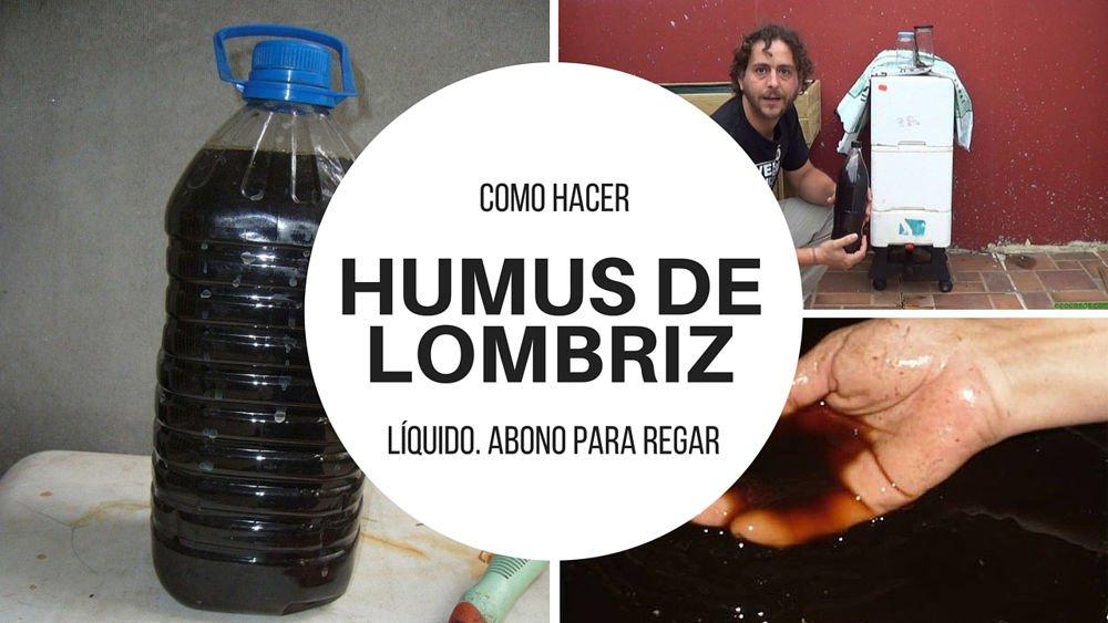 Como hacer humus de lombriz liquido
