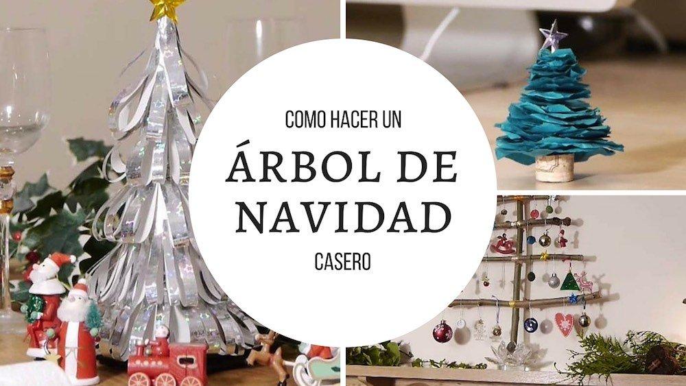 cmo hacer un arbol de navidad casero - Arbol De Navidad Casero