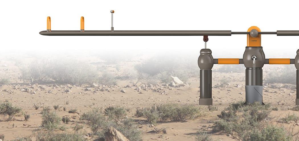 Columpio para sacar agua de un pozo sin electricidad