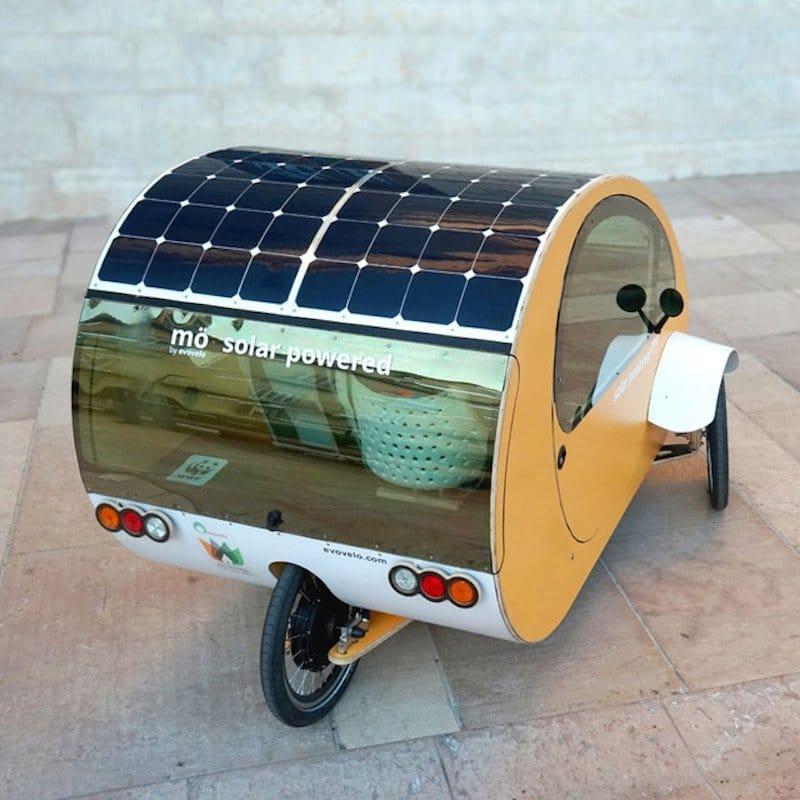 mö, triciclo biplaza BIO-HÍBRIDO solar urbano