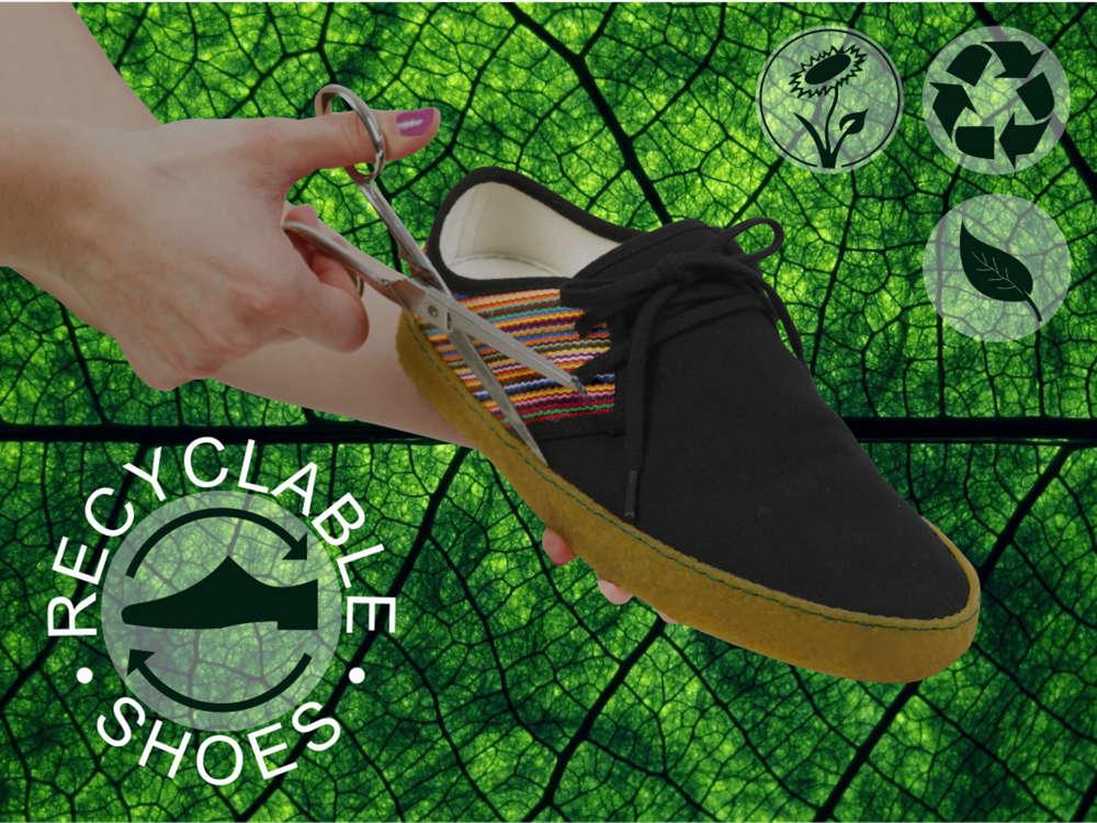 Vesica Piscis Footwear. Un zapato Sostenible, reciclable, orgánico, vegano y solidario