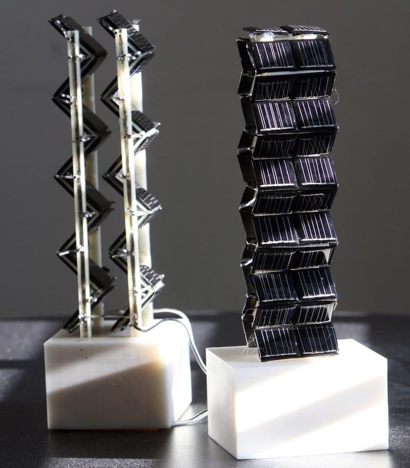 Las torres solares 3D son 20 veces más eficientes que las planas convencionales