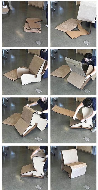 Cómo hacer un sillón de cartón