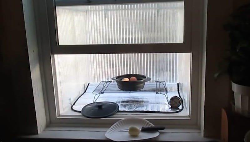 Cómo hacer un calentador - horno solar para una ventana